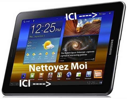 Probleme de memoire sur tablette samsung