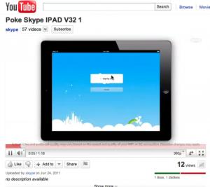 Skype pour iPad 2